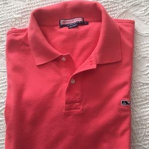 Vineyard Vines pink shirt sleeves polo